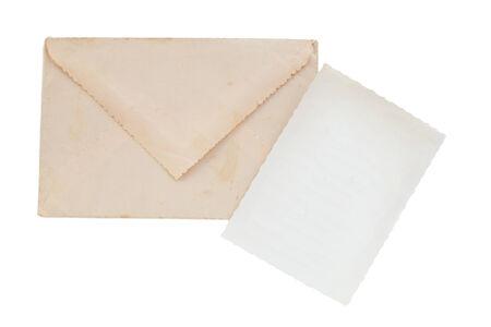 old envelope: Old envelope and postcard