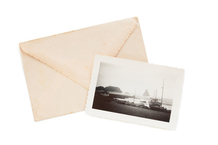 old envelope: Old envelope and photograph