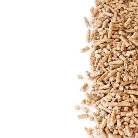 wood pellets: Pellets, ecological fuel isolated on white background