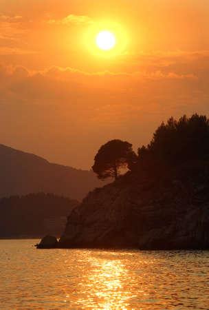 adriatic: Sunset on Adriatic sea