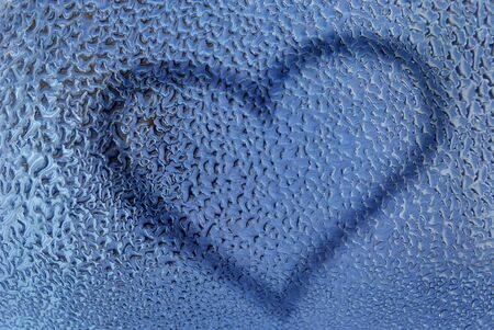 Water drops with heart Stock Photo - 1584230