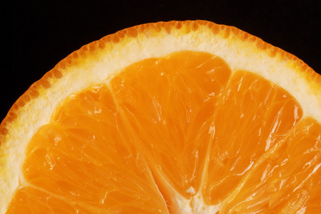 squeeze shape: Orange in close up Stock Photo