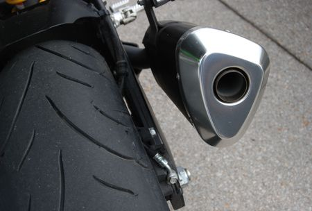 Exhaust of motorcycle in close up Stock Photo - 2066402