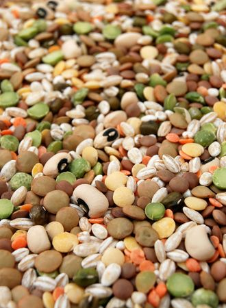 Mixed dry vegetable in close up photo
