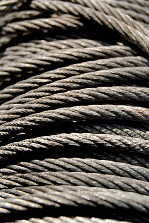 Steel rope in close up Stock Photo - 2066412