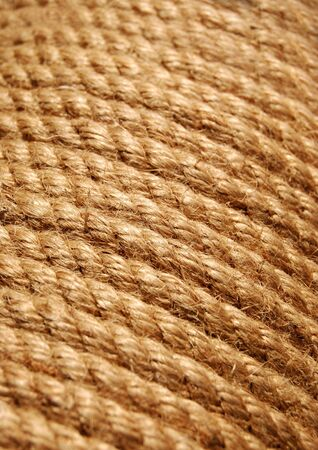 bonding rope: Yellow rope in close up