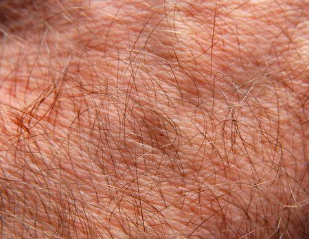 Human skin in close up