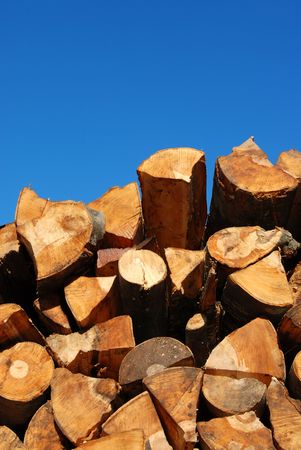 wood heating: Wood for heating Stock Photo