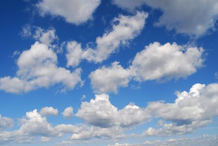 Blue sky with white clouds in spring