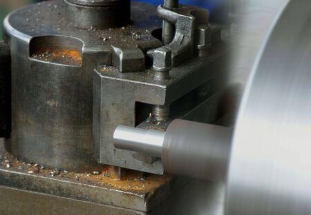 Cutting metal on the lathe Stock Photo - 2900544