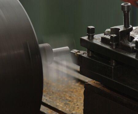 Cutting metal on the lathe Stock Photo - 2900546
