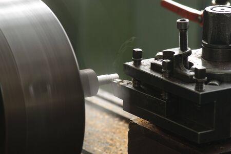 Cutting metal on the lathe Stock Photo - 2900545