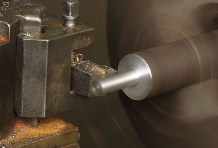 Cutting metal on the lathe Stock Photo - 2900587