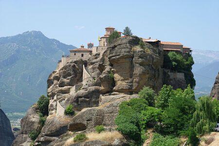 thessaly:  Holy Monastery  Varlaam,  Meteora, Greece,  Thessaly Stock Photo