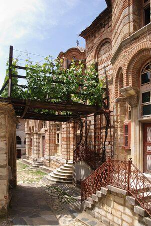 serbian: Old miraculous grape in ancient Serbian orthodox Holy Monastery  Hilandar,  Greece