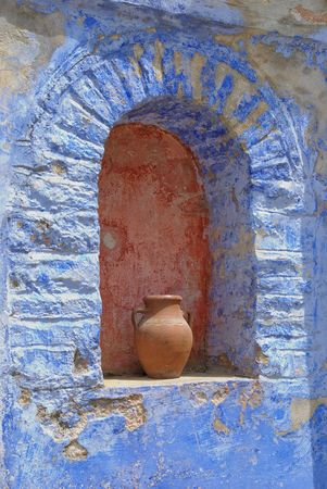serbian: Detail from ancient Serbian orthodox Holy Monastery  Hilandar,  Greece now in reconstruction after fire