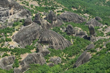 thessaly: Interesting stone formation, Great Meteora, Greece,  Thessaly