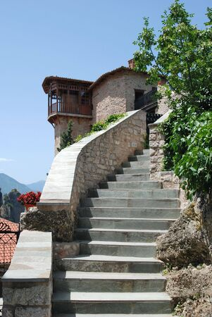 thessaly: Entrance to Holy Monastery Roussano, Meteora, Greece Thessaly