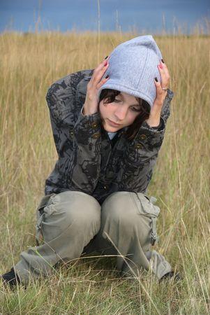Feared teenage white girl  photo
