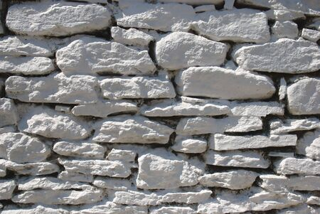 Close up of white colored stone wall Stock Photo - 3622827