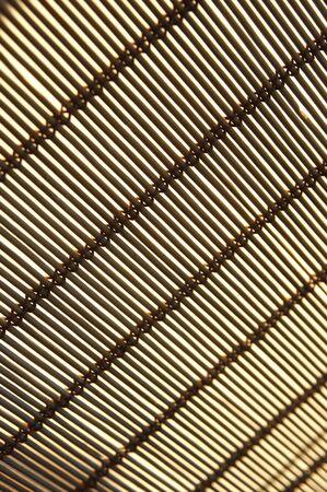 jalousie: Diagonal stripes on beige natural rattan blind