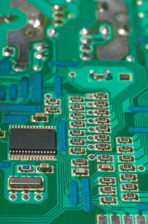 Close up of  circuit board - selective focus Stock Photo - 4013626