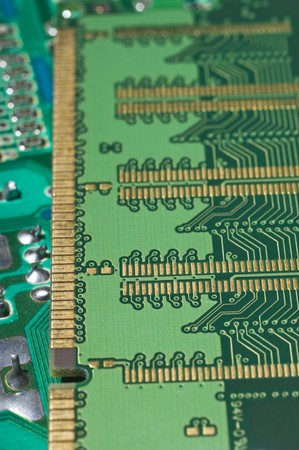 Close up of back side of computer ddr memory Stock Photo - 4013628