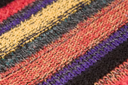 Close up detail of colored wool jumper  photo