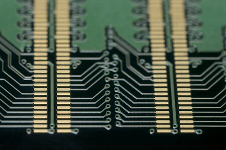 microcomputer: Electonic - close up of back side of computer ddr memory