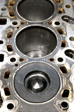 Close up of piston and cylinder hole photo
