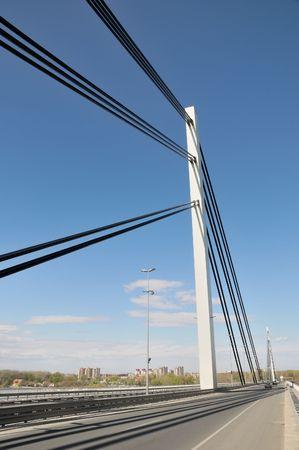 Cable suspension bridge over Danube, Novi Sad, Vojvodina Serbia Stock Photo - 6828945