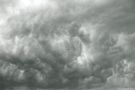Dark stormy clouds or smoke suitable for backgrounds Stock Photo