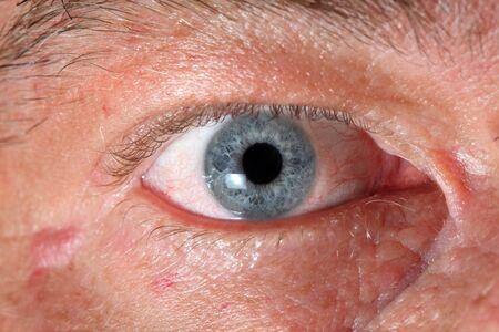 Close up photo of adult male eye photo