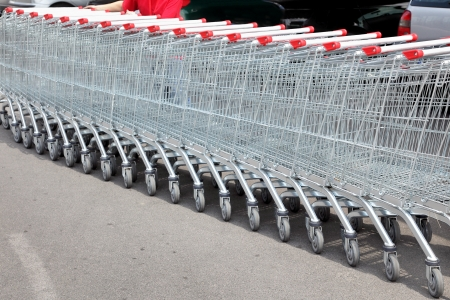 shoppingcart: Handcarts for shopping at the entrance of supermarket