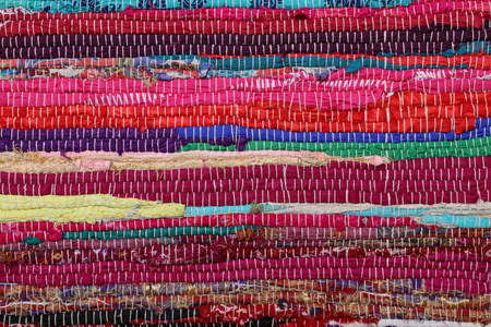 carpet texture: Close up of beautiful colorful hand made motley rug or carpet Stock Photo