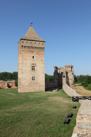 14th century: Bac, medieval fortress in Serbia, Vojvodina completed in 14th century, destroyed in 18th century Stock Photo