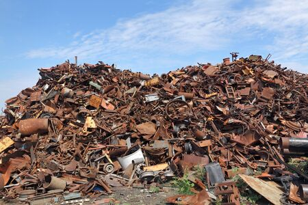 scrap: Heap of scrap metal ready for recycling
