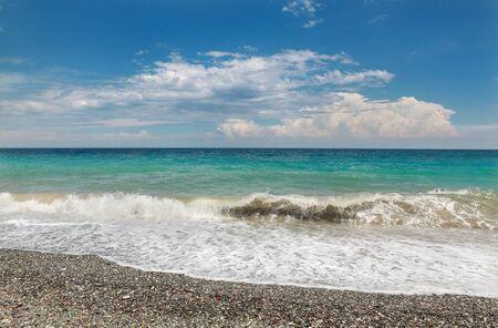 panteleimon: New Panteleimon beach, Nea Paneleimonas, Greece, Olympus region
