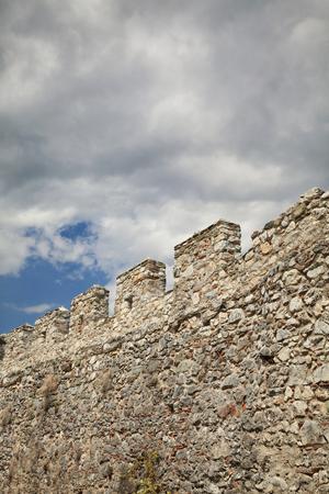 olympus: Wall of old castle in Platamonas - Platamon, Olympus region, Macedonia, Greece