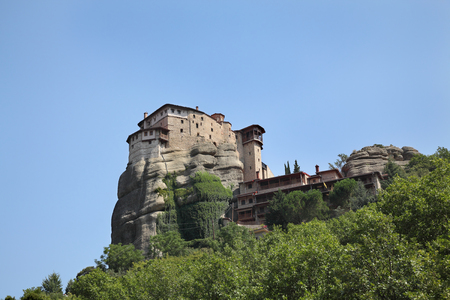 thessaly: Holy Monastery St. Nicholas Anapafsas, Meteora, Greece Thessaly built in 16. century