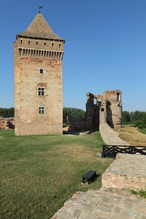 Bac, medieval fortress in Serbia, Vojvodina completed in 14th century, destroyed in 18th century Stock Photo