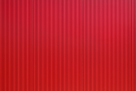 New red metal panel construction, wall of industrial building, suitable for background Stock fotó