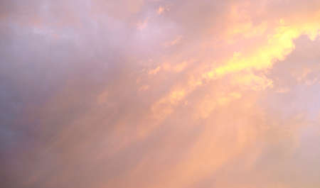 The sky of sunrise. Sunset sky Pink-purple clouds. Fire from the clouds. Copy space for text. 版權商用圖片