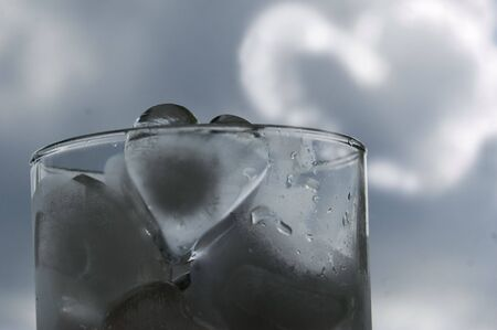 ice heart and heart-shaped cloud Stock Photo - 1050212