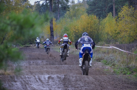 Competitions on  the cross-country motorcycle race in the Moscow suburban town of Lytkarino, 10 October 2012. Editorial