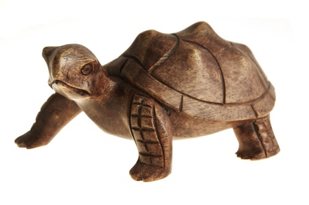 Statue of a turtle made of wood. Stock Photo - 17125018