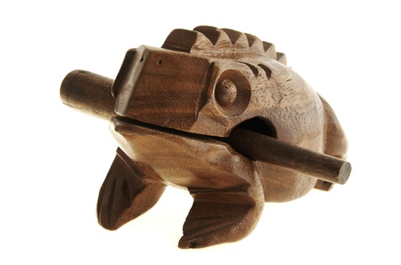 Figurine of a frog from the tree. Stock Photo - 17125014
