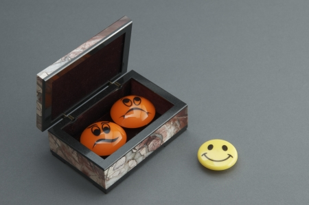 Stone box with the magnets.