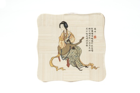 Japanese painting on wooden tablets  Home and peace of mind Stock Photo - 17210151