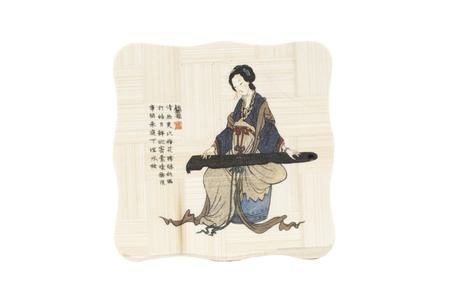 Japanese painting on wooden tablets  Home and peace of mind  Stock Photo - 17210162